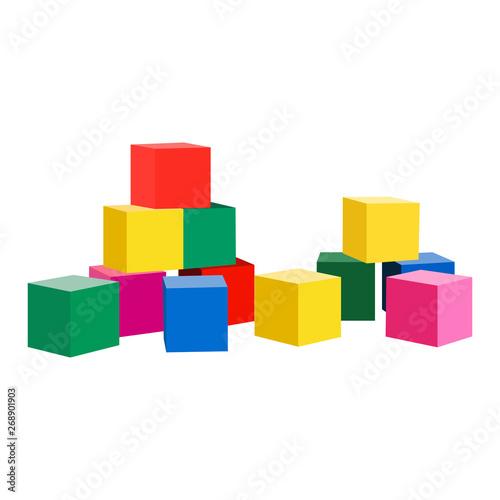 Tela Toy blocks vector icon on a white background