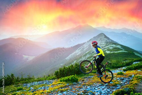 Photo  Racer on Mount Synyak