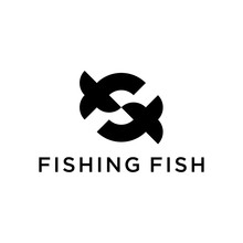 Initial Letter F With Shape Fish Logo Design Concept