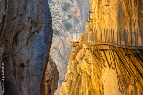 view of El Caminito del Rey or King's Little Path, one of the most Dangerous Foo Canvas Print