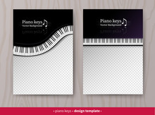 Vector Design Templates With Top View Piano Keys