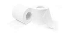 Two Rolls Of Toilet Paper To Support Hygiene.