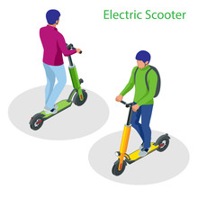 Isometric Electric Scooter On ...