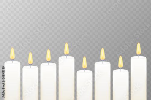 Fotografie, Obraz  Realistic burning candle