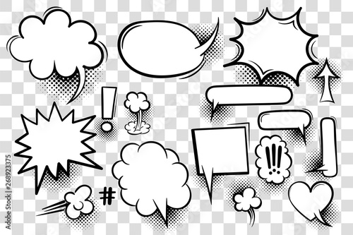Comic book text speech bubble