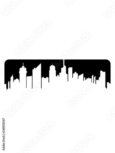 Fotografiet metropole stadt silhouette umriss hauptstadt großstadt wolkenkratzer hochhäuser