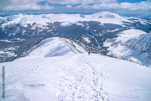 Beautiful Morning Hike Up Quandary Peak in Breckenridge, Colorado #268930596