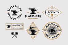 Blacksmith Logo Set White Back...