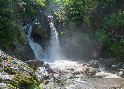 Waterfall in sun and shadow