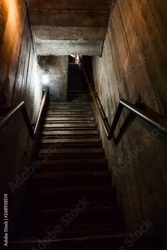 stairs to dark, old stairs leading to the darkness , horror descend the stairs