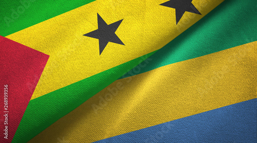 Fotografie, Obraz  Sao Tome and Principe and Gabon two flags