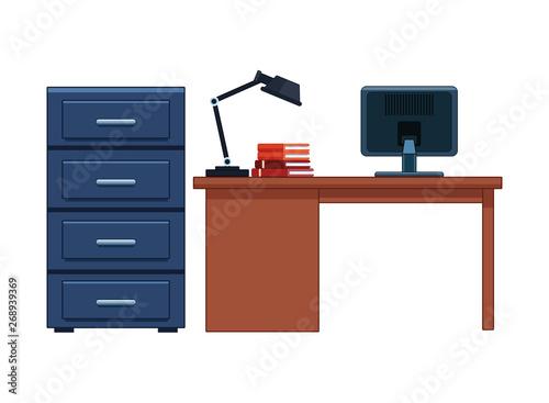 file cabinet and desk