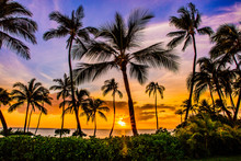 Sunset At Ko Olina Resort On O...