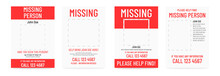Missing Poster Template. Person Lost Banner Design.