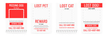 Lost Pet Poster Template. Miss...