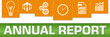 Annual Report Business Symbols Green Orange On Top Horizontal