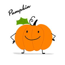 Funny Smiling Pumpkin, Character For Your Design