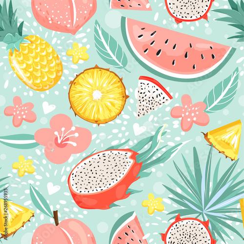wzor-z-owocami