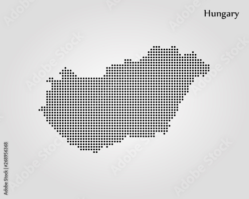Fotografie, Tablou Map of Hungary. Vector illustration. World map