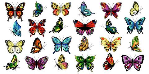 postaviti raznobojne leptire