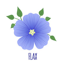 Flax Icon In Flat Style Isolated On White.