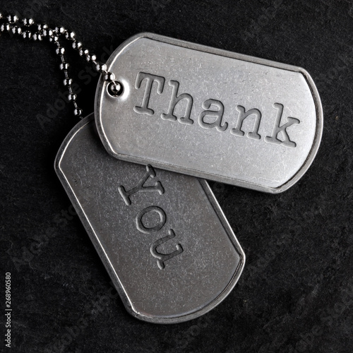 Fotografia, Obraz  Old military dog tags - Thank You