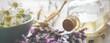 Leinwandbild Motiv Background-header for natural cosmetics, wellness or homeopathy