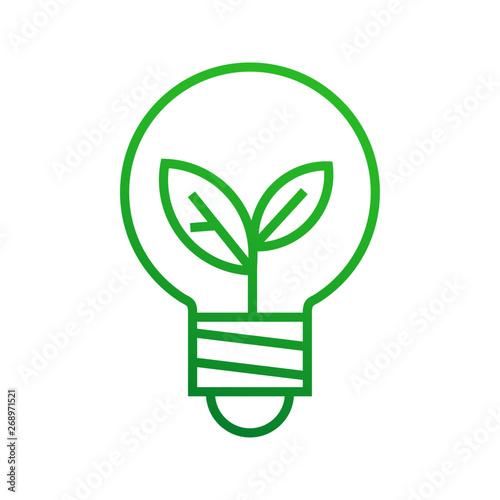 Obraz Ekologiczna żarówka logo wektor - fototapety do salonu