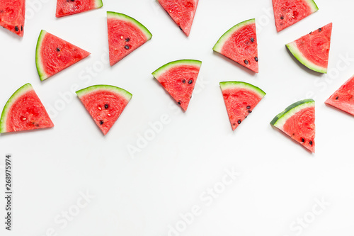 Stickers pour porte Inde Fresh watermelon slices pattern