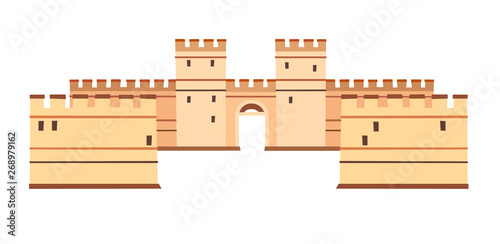 Fotografia, Obraz Constantinople walls vector icon