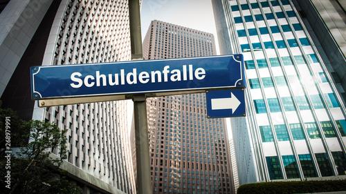 Fotografía  Schild 375 - Schuldenfalle