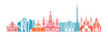 Russia Skyline Vector. Travel ...