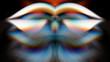 canvas print picture - Spectrum fantastic art. Abstract digital colorful wallpaper.  Futuristic fractal world illusration. Texture.. Fantasy screensaver. Raster clip art.