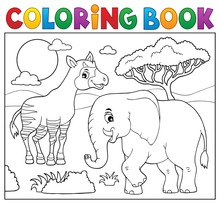 Coloring Book African Nature T...