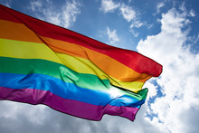 Colorful LGBT Flag Blows In Th...