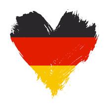 Brushstroke Painted Flag Of Germany