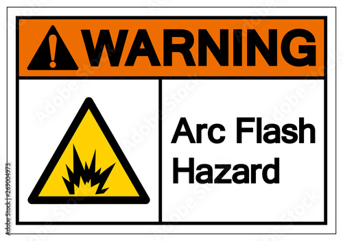 Obraz Warning Arc Flash Hazard Symbol Sign, Vector Illustration, Isolate On White Background Label .EPS10 - fototapety do salonu