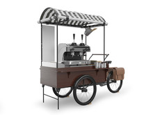 Street Coffee Cart 3D Renderin...