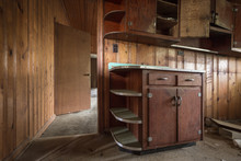 Empty Kitchen Cabinets Left Forgotten In An Old Abandoned Home