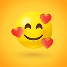 Emoji With Hearts - In Love Fa...