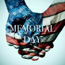 American Flag And Text Memorial Day