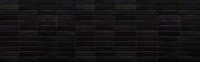 Panorama Of Black Brick Wall T...