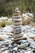 stone balance and meditation