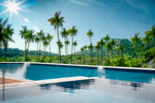 Foto auf Leinwand Texturen Swimming pool background and free space for your decoration.