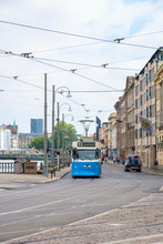 Tram On A Street In Gothenburg