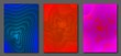 Liquid color abstract a4 size template. Fluid vector gradient design for flyers, posters, placards.