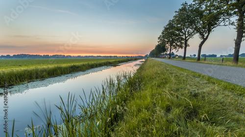 Tablou Canvas Netherlands open polder landscape