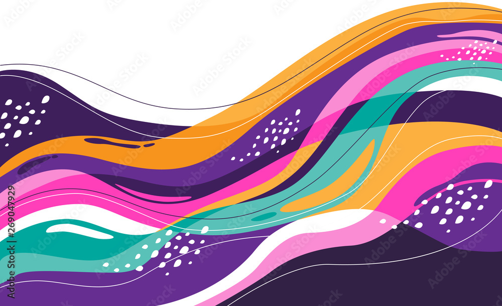 Fototapeta creative background wind and leaf with colorful for mural, print, decor, background, etc.