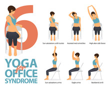 Infographic Of 6 Yoga Poses Fo...