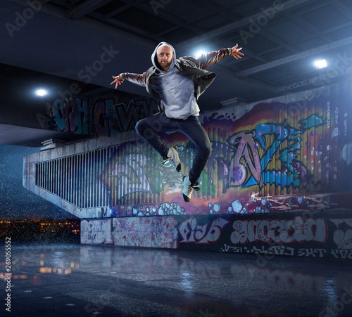 Male Hip Hop Dancer Wallpaper Mural